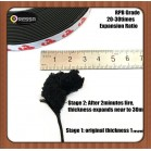 30times Expansion flat flexible fireproof intumescent seal strip
