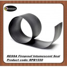 Wooden fire door flat flexible fireproof intumescent seal strip