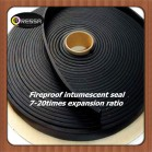 Flat flexible fireproof intumescent seal strip (Product Code: RPB black)