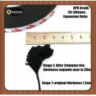 Flat flexible fireproof intumescent seal strip RPB black