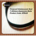 Flat flexible fireproof intumescent seal strip (Product Code: RPB red)