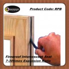 Flat flexible fireproof intumescent seal strip Code: RPB
