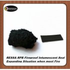 Flat flexible fireproof intumescent seal strip RPB